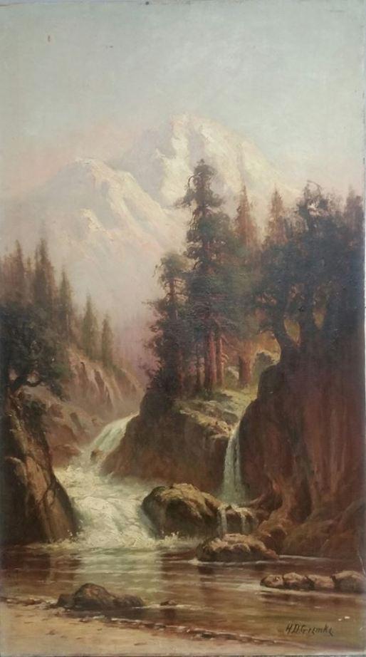 H D Gremke, artist, oil painting