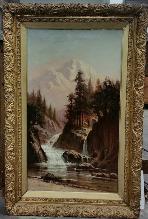 H D Gremke, artist, oil painting, 3